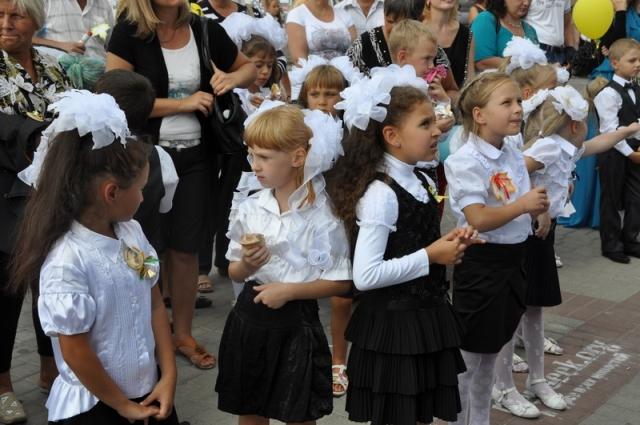 В Херсоне состоялся Парад первоклассников – первый в Украине