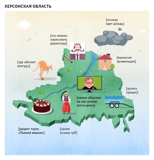 Яндекс выяснил, чем интересуются херсонцы в Интернете