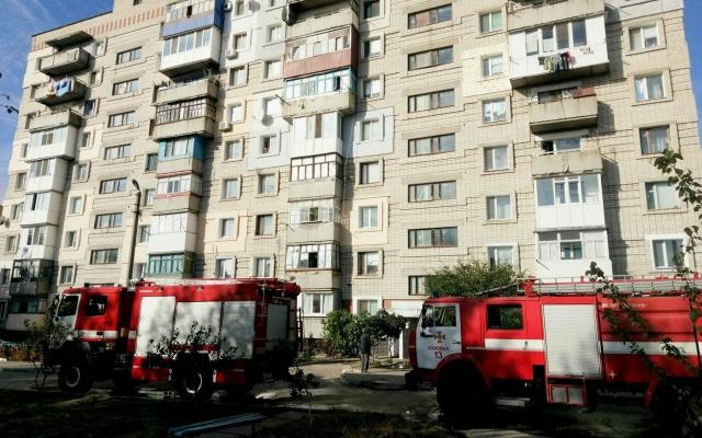 В Каховке пожарные потушили возгорание в 9-этажке