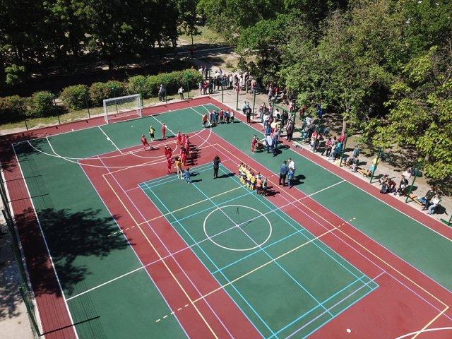 В Каховке открыли новую спортивную площадку