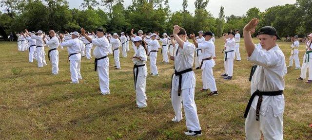 В Скадовске проводятся занятия летней школы каратэ