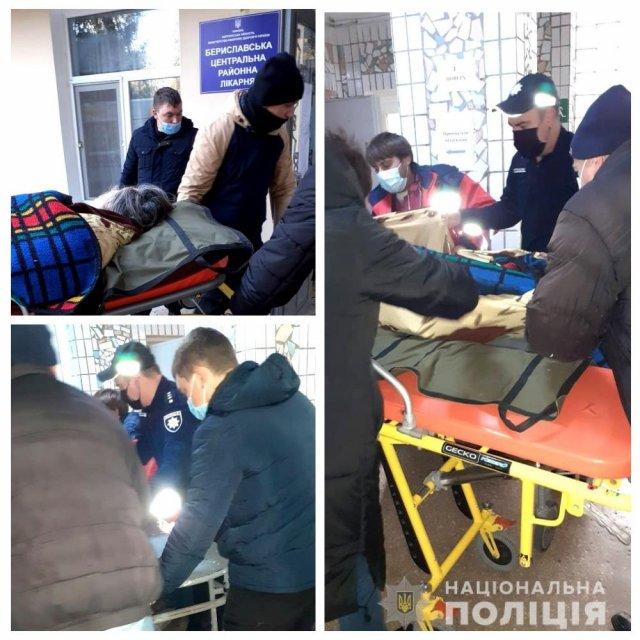 В Бериславе полицейский спас жизнь пенсионерке, у которой случился инсульт